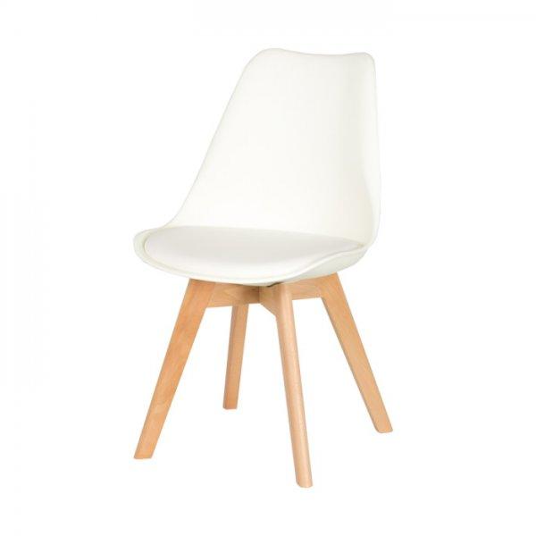 Бял трапезен стол Scandi 006