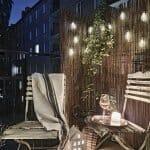 Осветен балкон