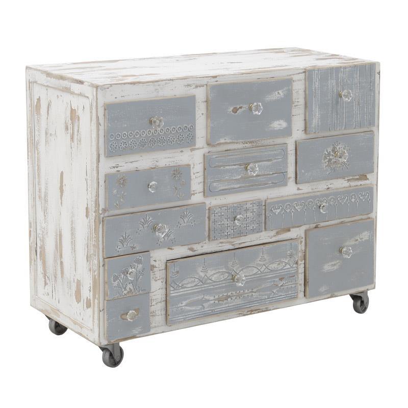 Дървен шкаф на колелца Shabby chic