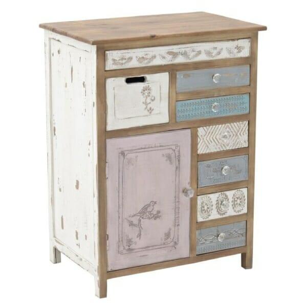 Дървен шкаф с чекмeджета Shabby Chic