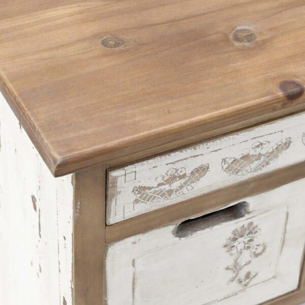 Дървен шкаф с чекмeджета Shabby Chic - отблизо