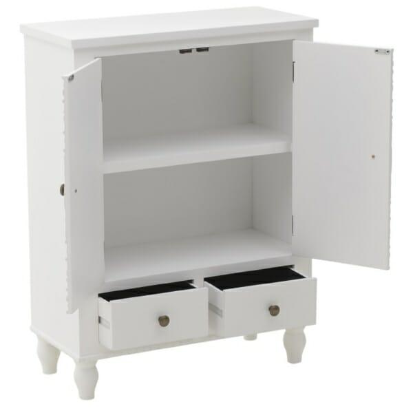Дървен шкаф Valencia White - отворен