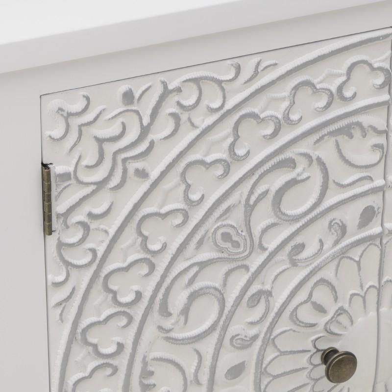 Дървен шкаф с орнаменти Valencia White