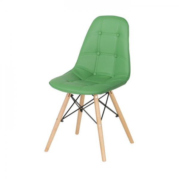 Зелен трапезен стол Scandi-снимка отстрани