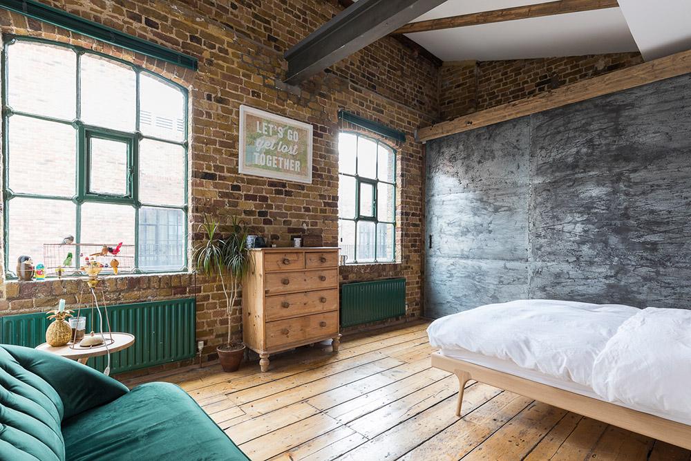 Спалня в индустриален стил