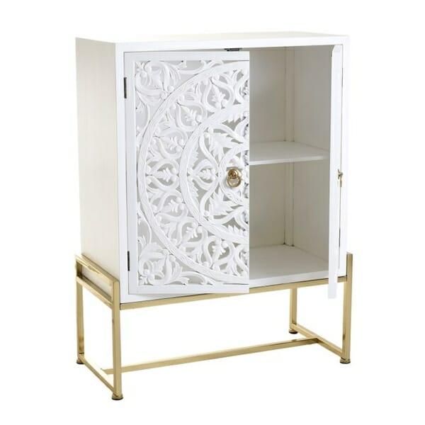 Луксозен дървен шкаф - отворен