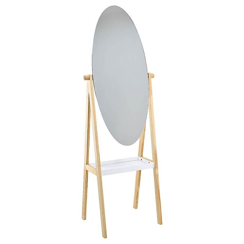 Елипсовидно огледало с етажерка