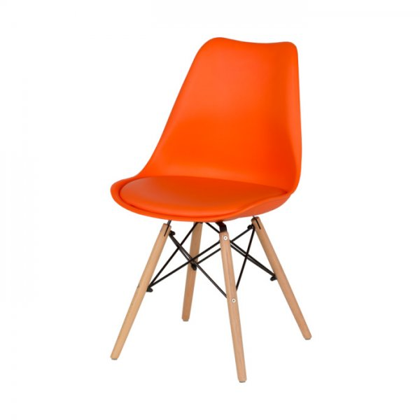 Оранжев трапезен стол Scandi 007