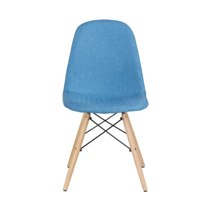 Син трапезен стол Scandi 003 - отпред