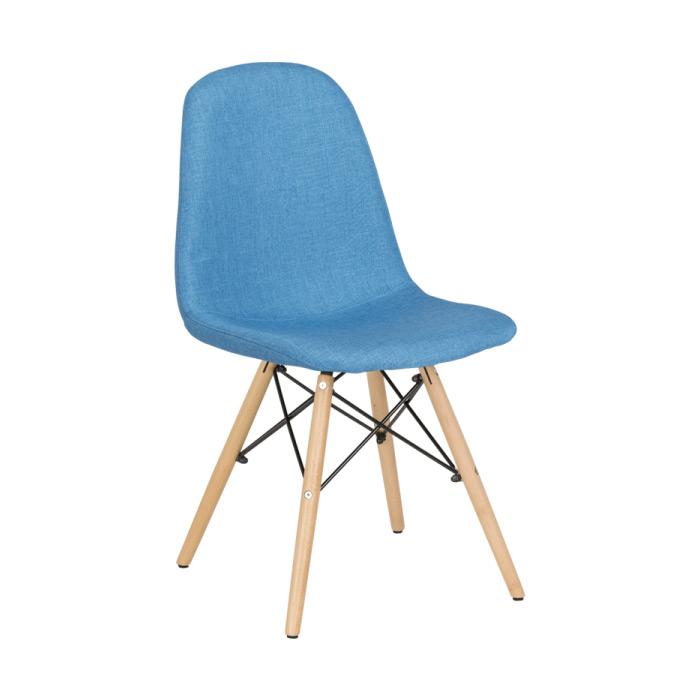 Син трапезен стол Scandi 003 - отстрани
