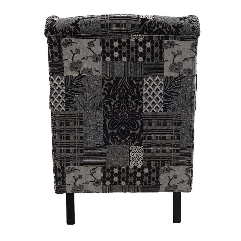 Текстилно кресло Patchwork Grey - отзад