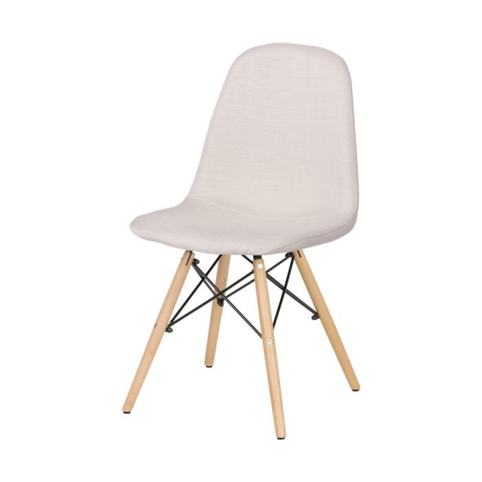 Трапезен стол Scandi 003 в цвят Алабастър