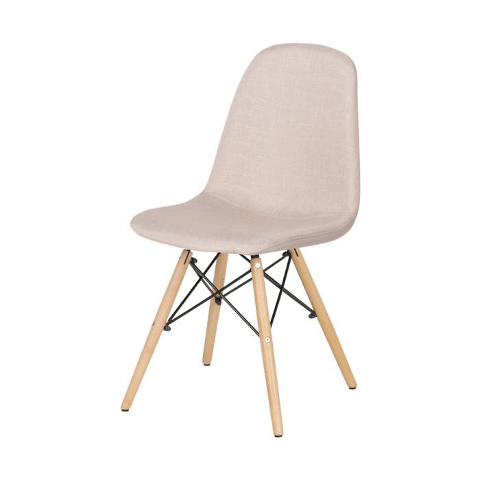 Трапезен стол Scandi 003 в цвят Телесен