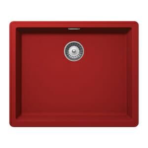 Червена гранитна мивка за кухня SCHOCK Greenwich N100L