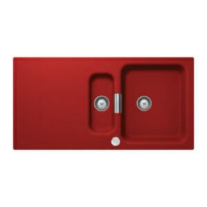 Червена гранитна мивка Wembley D150 - цвят Rouge