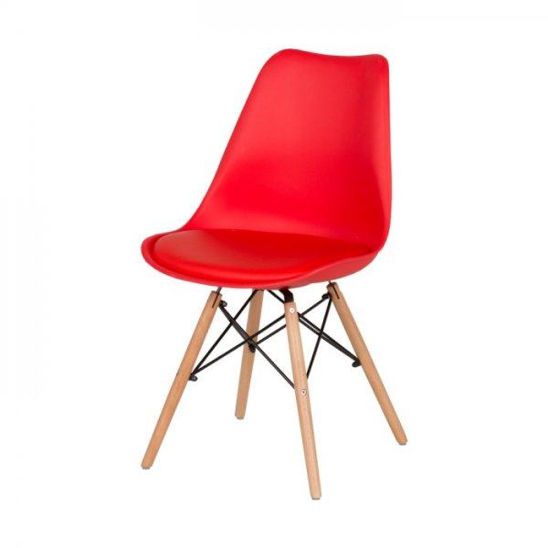 Червен трапезен стол Scandi 007