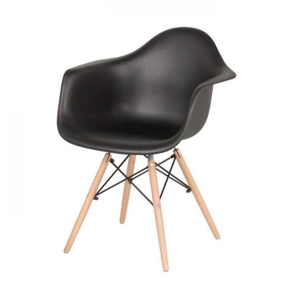 Черен трапезен стол Scandi 005