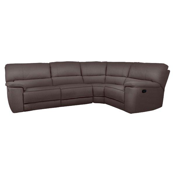 Ъглов диван от еко кожа с 2 релакс механизма