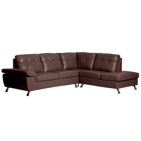 Ъглов диван от естествена кожа Jane