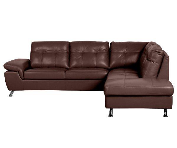 Ъглов диван от естествена кожа Jane - странична снимка