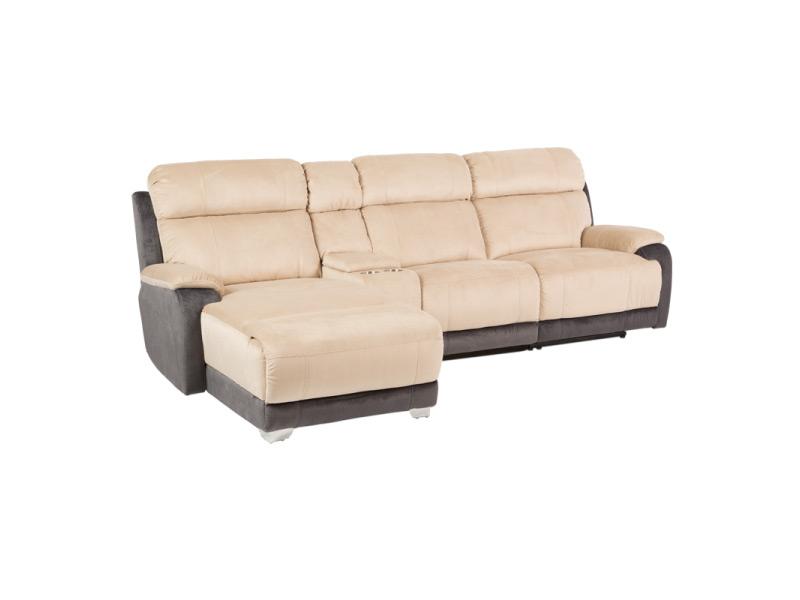 Ъглов диван с релакс механизъм и бар функция-в нормално състояние
