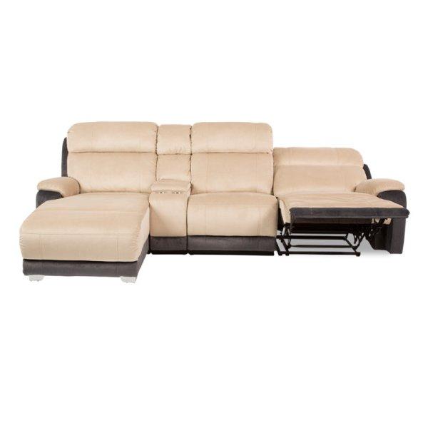 Ъглов диван с релакс механизъм в действие