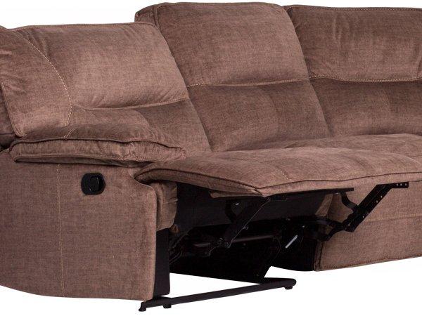 Ъглов диван с отворен релакс механизъм
