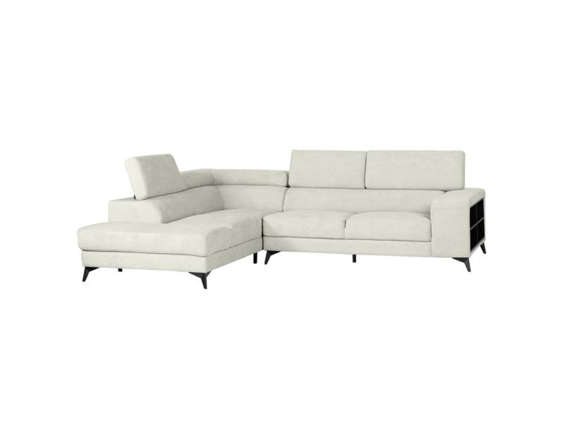 Холна мека мебел за ъгъл с регулируеми подглавници