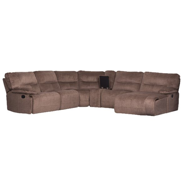 Ъглов диван с релакс механизми и бар функция - показана