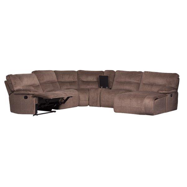 Ъглов диван с отворен релакс механизъм и бар функция