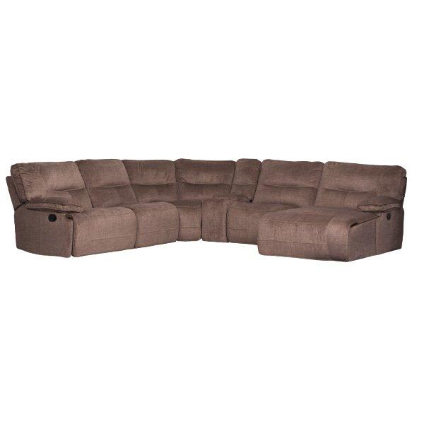 Голям ъглов диван с релакс механизми и бар функция