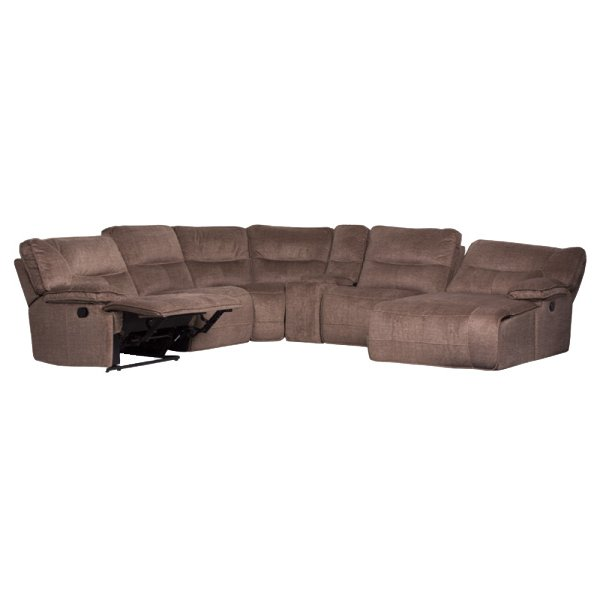 Ъглов диван с релакс механизми и бар функция