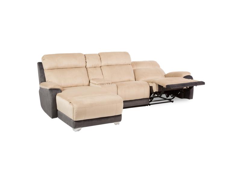 Ъглов диван с релакс механизъм и бар функция
