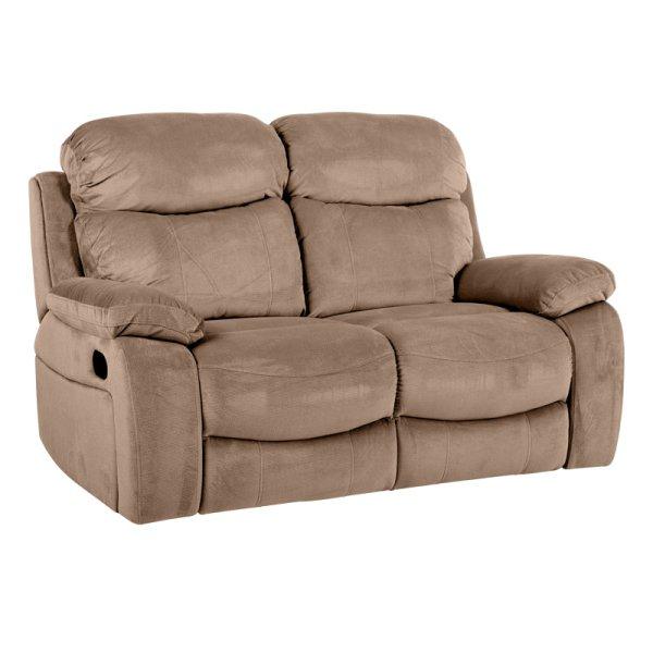 Бежов двоен диван с разпънати релакс механизми Селена