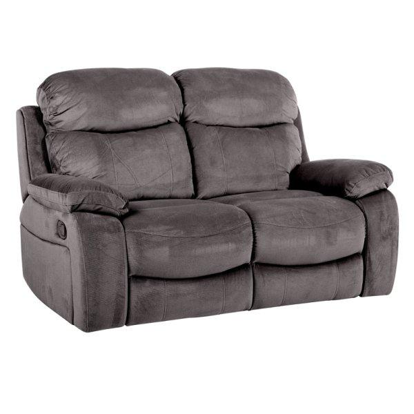 Двоен диван с релакс механизми Селена - цвят графит