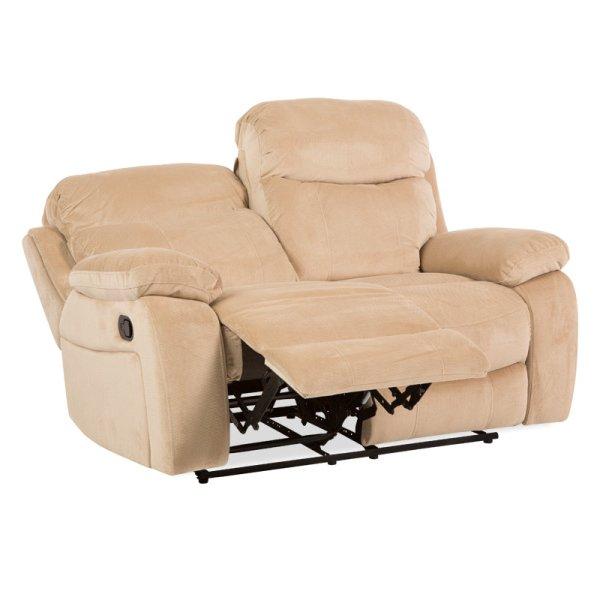 Двоен диван с релакс механизми Селена-цвят крем
