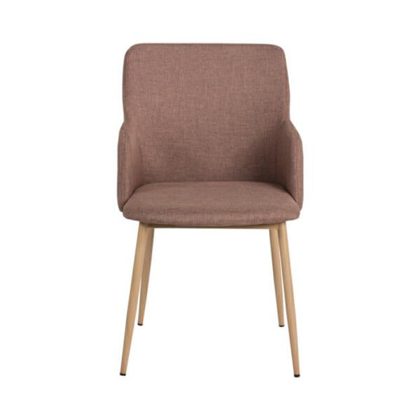 Кафяв трапезен стол с метални крака Scandi 009 - снимка отпред