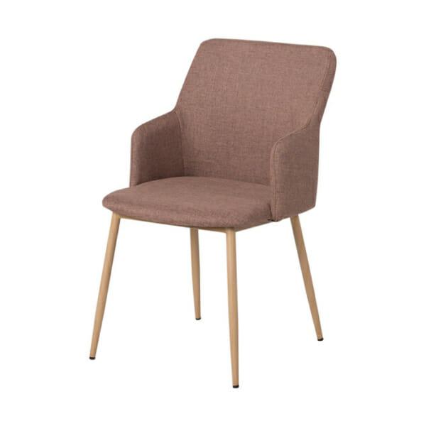 Кафяв трапезен стол с метални крака Scandi 009 - снимка отстрани