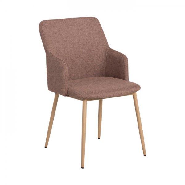 Кафяв трапезен стол с метални крака Scandi 009