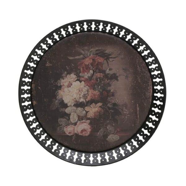 Кръгла декоративна табла в тъмни цветове