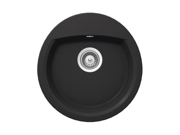 Кръгла мивка от гранит Schock - цвят Onyx