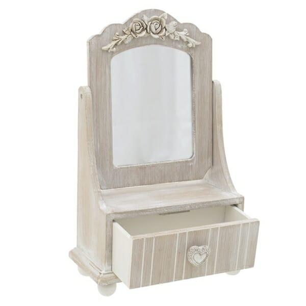 Малка бижутерна кутия с огледало