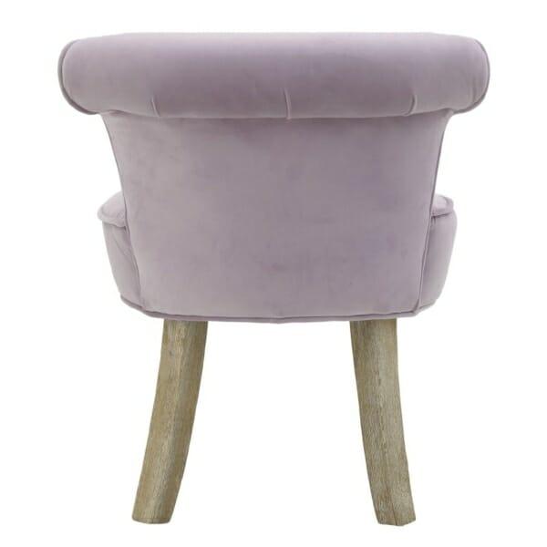 Мек текстилен стол - отзад