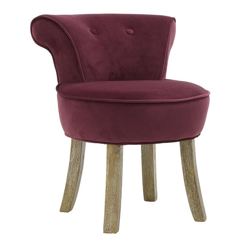 Мек текстилен стол - червен