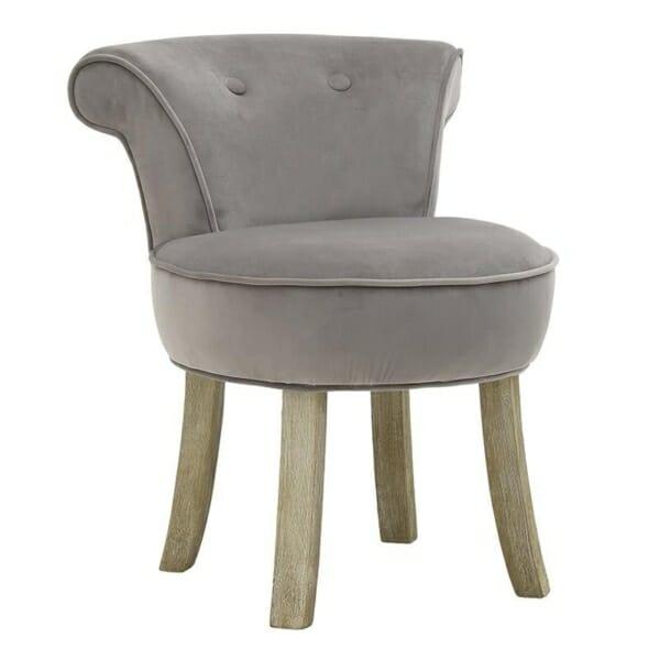 Мек текстилен стол - сив
