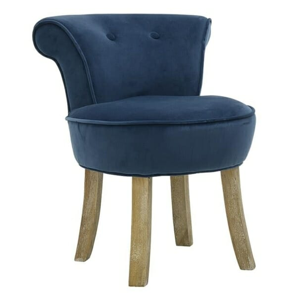 Мек текстилен стол - син