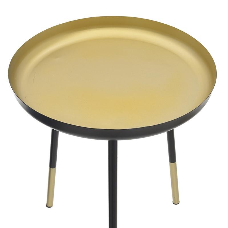 Метална помощна масичка в черно и златно