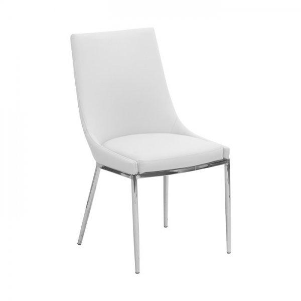 Модерен бял трапезен стол от ЕКО кожа Scandi 011