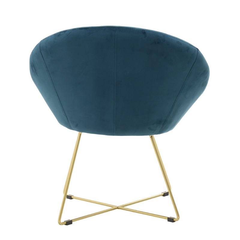Овално кадифено кресло - отзад