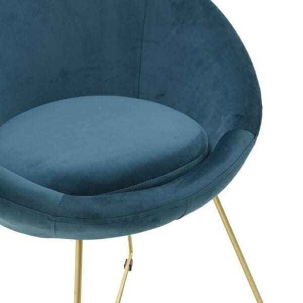 Овално кадифено кресло - седалка